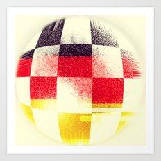 German Soccer Art Print