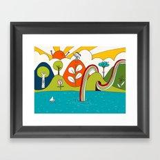 hiker's dream Framed Art Print