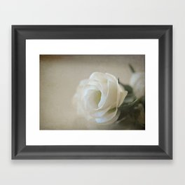 White Lisianthus Framed Art Print