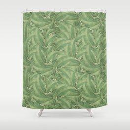 Banana Leaf Pattern Shower Curtain