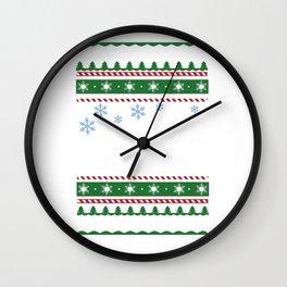 Ugly Christmas Trees Snowflakes Race Car Wall Clock