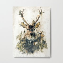 Deer Surrealism Metal Print