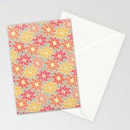Poinsettia. Retro. Stationery Cards