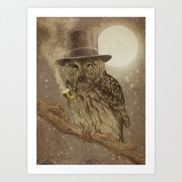 Night Smoke Art Print