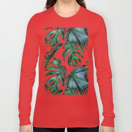 Tropical Palm Leaves Classic Long Sleeve T-shirt