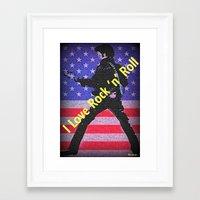 rock n roll Framed Art Prints featuring Love Rock n Roll by elkart51