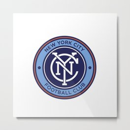 NEW YORK CITY FC Logo Metal Print
