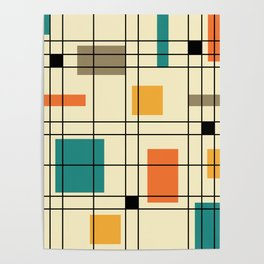 1950's Abstract Art Poster