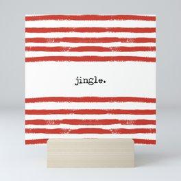 red stripes-jingle Mini Art Print
