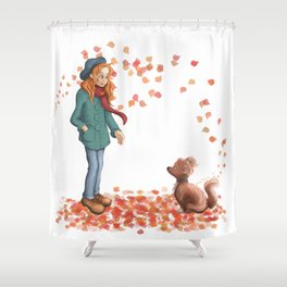 Just a two of us (autumn) Shower Curtain