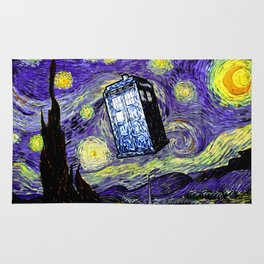 The Tardis in the Starry Night Rug