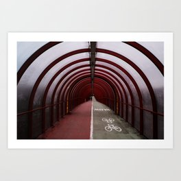 Surface Tension: Tunnel to SEC Art Print