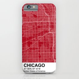 chicago city map color iPhone Case