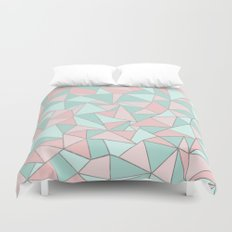 Ab Out Mint and Blush Duvet Cover