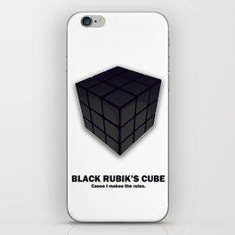 Black Rubik's Cube iPhone Skin
