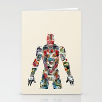 superheros Stationery Cards featuring modern ironman  by bri.buckley