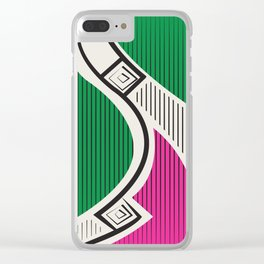 African Tribal Pattern No. 72 Clear iPhone Case