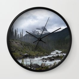Mountains in Banff Wall Clock