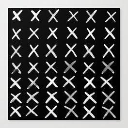Contemporary X Paint Cross stich Pattern Canvas Print