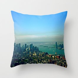 New York from the Empire State Building Throw Pillow