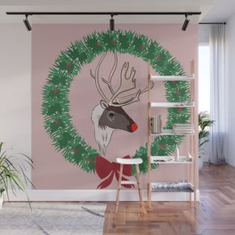Rudolph Brings You Those Christmas Presents Wall Mural