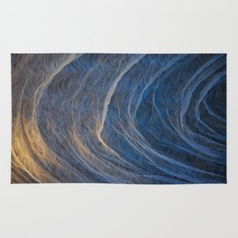 Background. Theatrical scenery with spots of searchlights close up. Rug