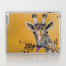 Giraffe in Orange Laptop & iPad Skin