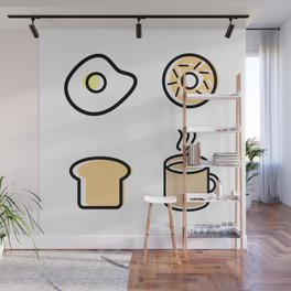 Breakfast Icons Wall Mural
