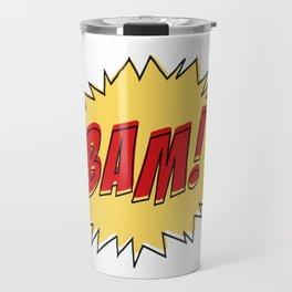 COMIC BOOK BAM Pop Art by BruceALMIGHTY Travel Mug