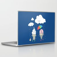 dave grohl Laptop & iPad Skins featuring Cloudy With A Chance of Sprinkles by Monica Gifford