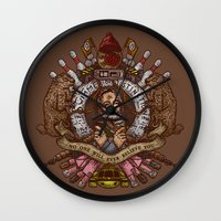 murray Wall Clocks featuring Murray crest by Rodrigo Ferreira