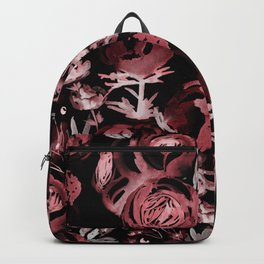 Gestual flowers in red Backpack