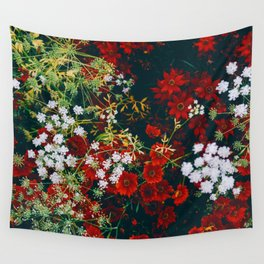 The Flower Bed (Color) Wall Tapestry