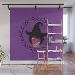 Witch Hair Don't Care-Purple Wall Mural