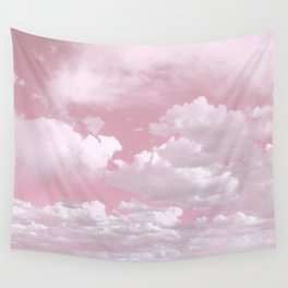 Clouds in a Pink Sky Wall Tapestry
