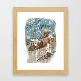 CAROGNA DI MARE Framed Art Print
