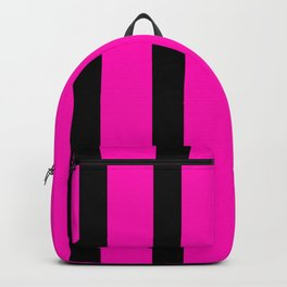 Hot Pink with Black Stripes Backpack