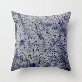 Denim Splatt Throw Pillow