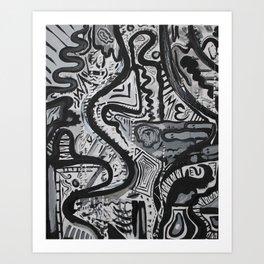 """No. 11"" Acrylic Abstract Painting by Tasha Boehm Art Print"