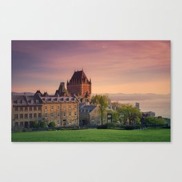 Dusk in Québec City Canvas Print