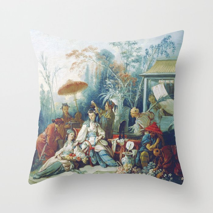 Le Jardin Chinois by François Boucher Throw Pillow by ...
