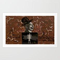 Electrical Hat Man Art Print