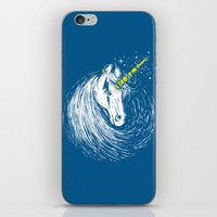 unicorns iPhone & iPod Skins featuring Scar Unicorns by Steven Toang