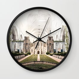 World in Cathedral Wall Clock