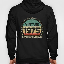 Retro Vintage Best of 1975 45 Years Old 45th Birthday Gift Hoody