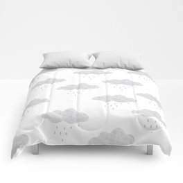 Rainy cloud Comforters
