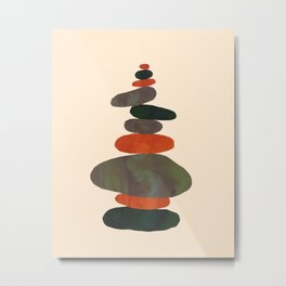 Stacking Stones A Metal Print