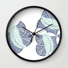 Boho Art Deco Indigo Wall Clock
