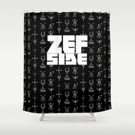 Zef Side Design Shower Curtain