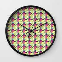 trippy Wall Clocks featuring Trippy by Idle Amusement